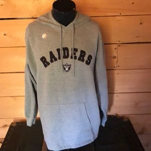 Raiders sweatshirt with Official NFL sticker. XL